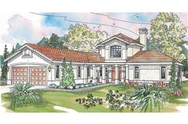 3-Bedroom, 2979 Sq Ft Southwest House - Plan 108-1582 - Front Exterior