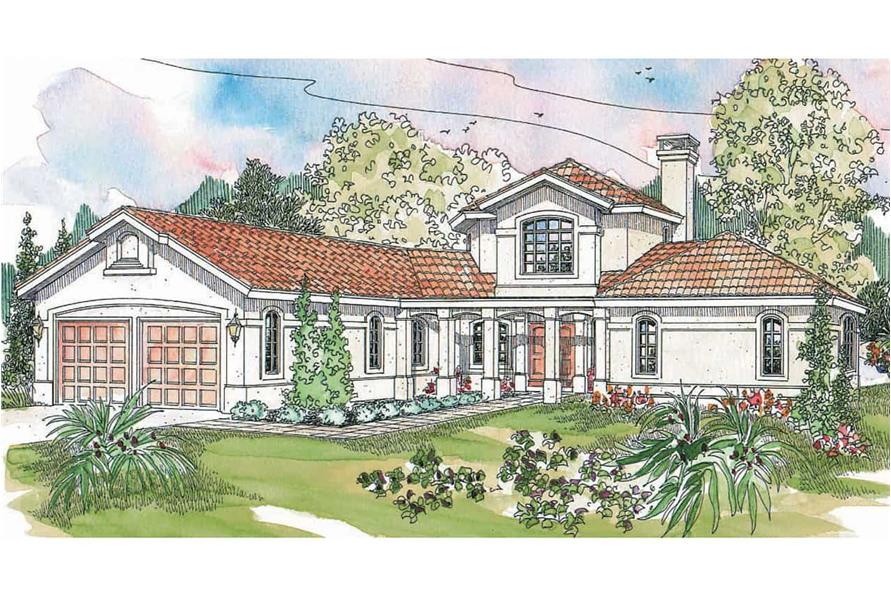 3-Bedroom, 2979 Sq Ft Southwest House - Plan 108-1582 - Front Exterior