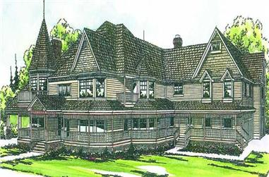 5-Bedroom, 6043 Sq Ft Colonial House Plan - 108-1583 - Front Exterior