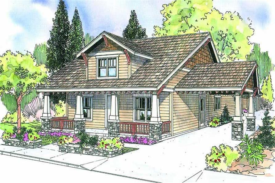 3-Bedroom, 2222 Sq Ft Ranch Home Plan - 108-1586 - Main Exterior