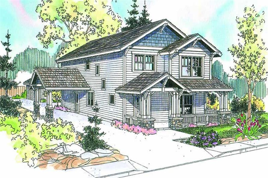 3-Bedroom, 2129 Sq Ft Country Home Plan - 108-1587 - Main Exterior
