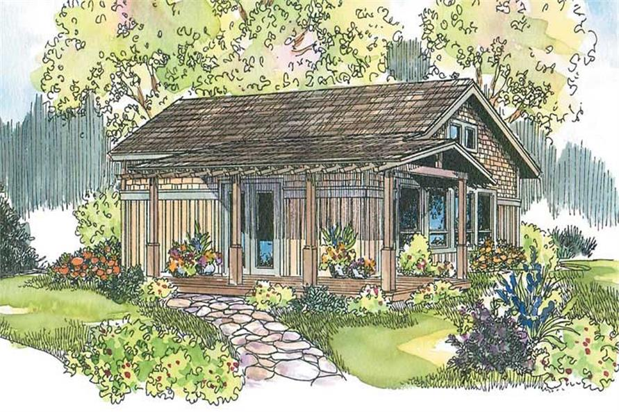 960 Sq Ft House Plan - Coastal, Log Cabin Style with 1 Bedrm Narrow Beach Cottage House Plans on small beach bungalow plans, unique beach house plans, southern beach house plans, narrow lot floor plans, beach cabin plans, long narrow floor plans, narrow houses floor plans, narrow coastal house plans, narrow width floor plans, small narrow lot house plans,