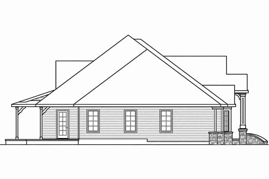108-1601: Home Plan Left Elevation