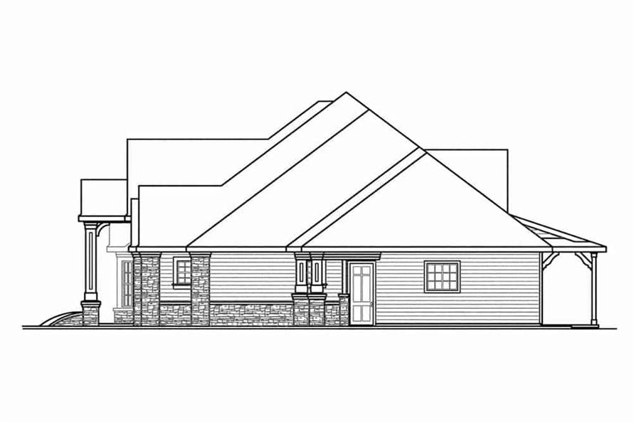 108-1601: Home Plan Right Elevation