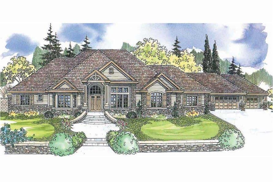 4-Bedroom, 4901 Sq Ft European Home - Plan #108-1601 - Main Exterior