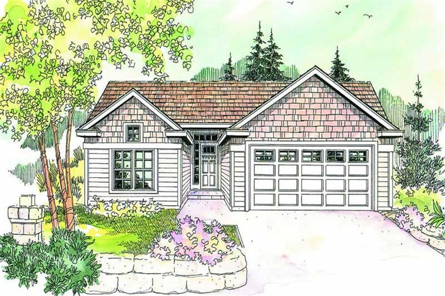 3-Bedroom, 1418 Sq Ft Contemporary House Plan - 108-1602 - Front Exterior