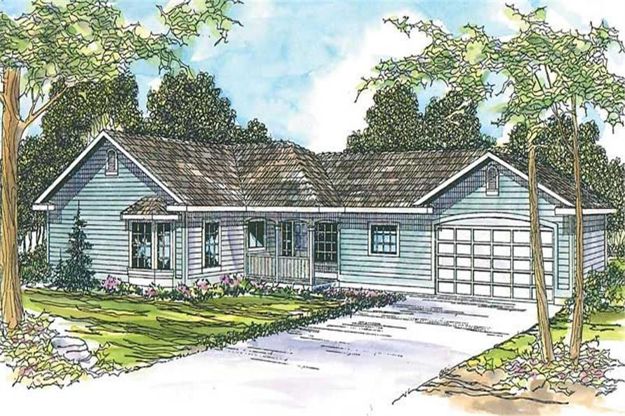 3-Bedroom, 2416 Sq Ft Country Home Plan - 108-1607 - Main Exterior