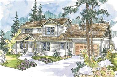 4-Bedroom, 2437 Sq Ft Country Home Plan - 108-1609 - Main Exterior