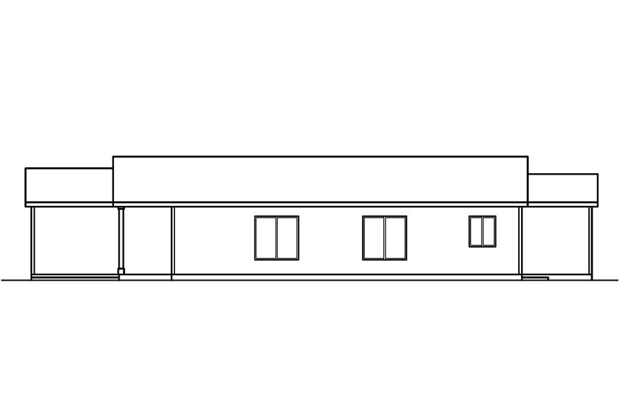 Home Plan Right Elevation of this 3-Bedroom,1237 Sq Ft Plan -108-1611