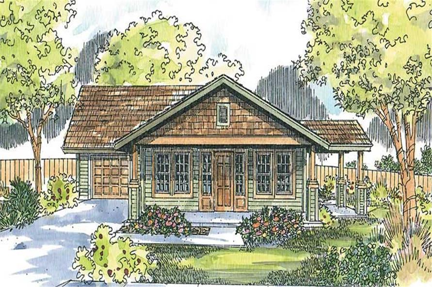 2-Bedroom, 1321 Sq Ft Craftsman House Plan - 108-1612 - Front Exterior