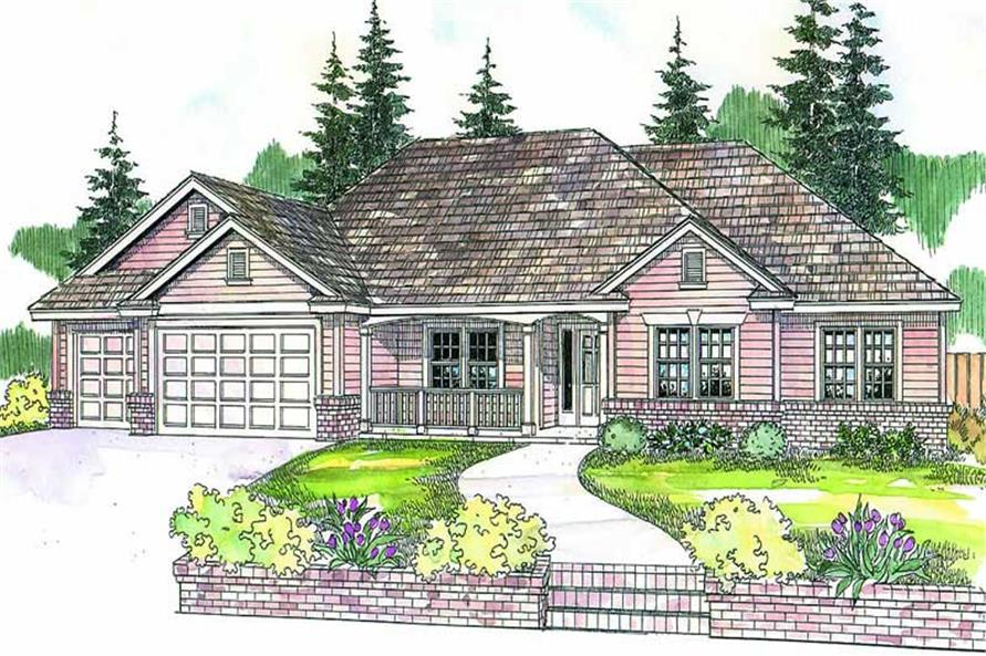 4-Bedroom, 2488 Sq Ft Country Home Plan - 108-1614 - Main Exterior