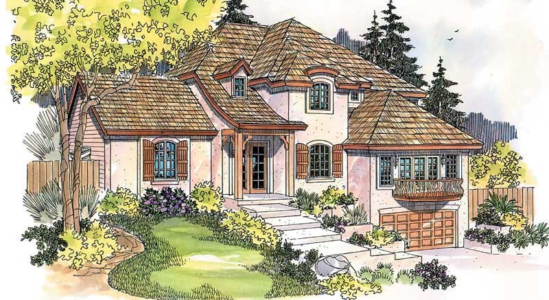 European french home with 4 bedrms 3382 sq ft plan for French eclectic house plans