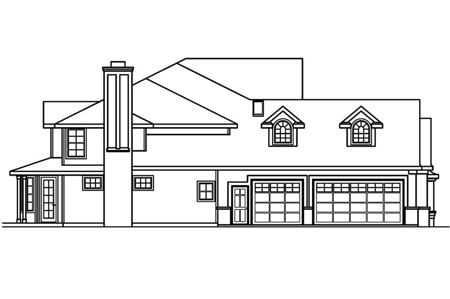 Home Plan Left Elevation of this 5-Bedroom,4350 Sq Ft Plan -108-1619