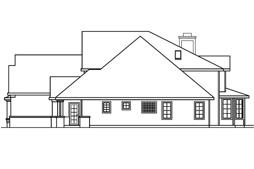 Home Plan Right Elevation of this 5-Bedroom,4350 Sq Ft Plan -108-1619