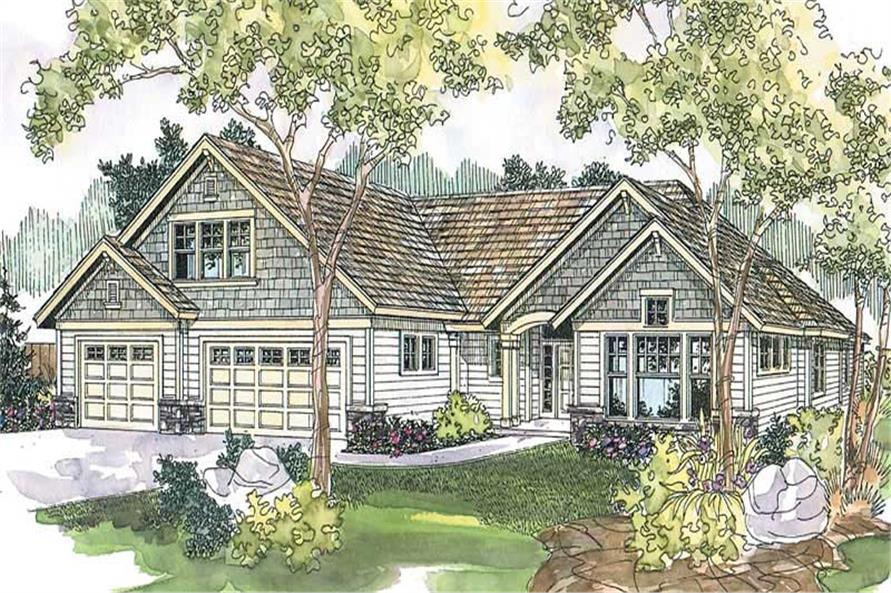 3-Bedroom, 2875 Sq Ft Craftsman Home Plan - 108-1624 - Main Exterior