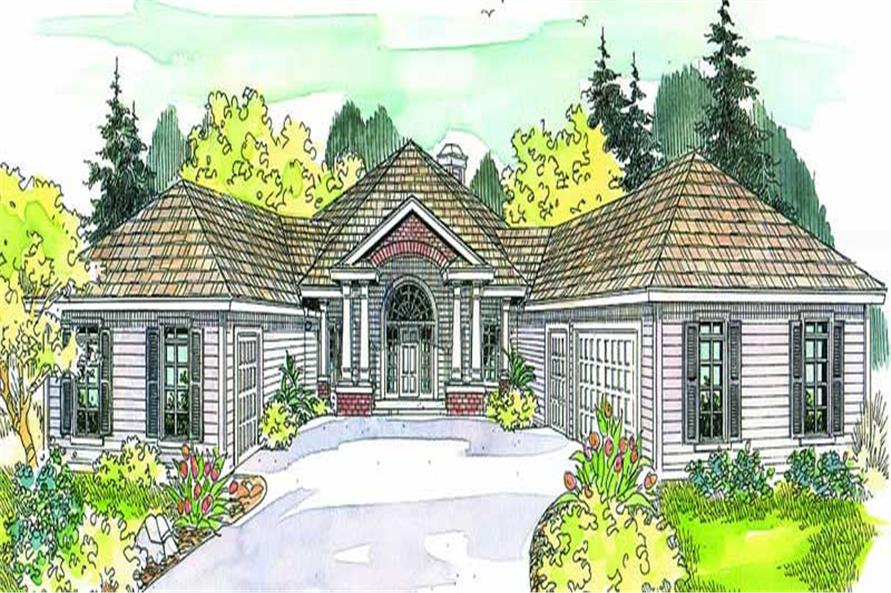 3-Bedroom, 2473 Sq Ft Contemporary House Plan - 108-1626 - Front Exterior