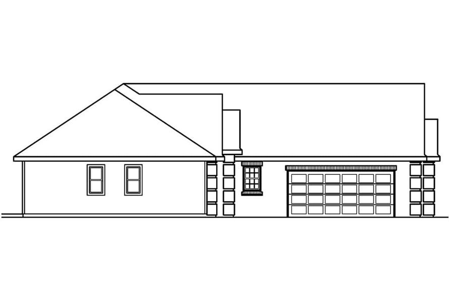 Home Plan Left Elevation of this 3-Bedroom,2174 Sq Ft Plan -108-1627