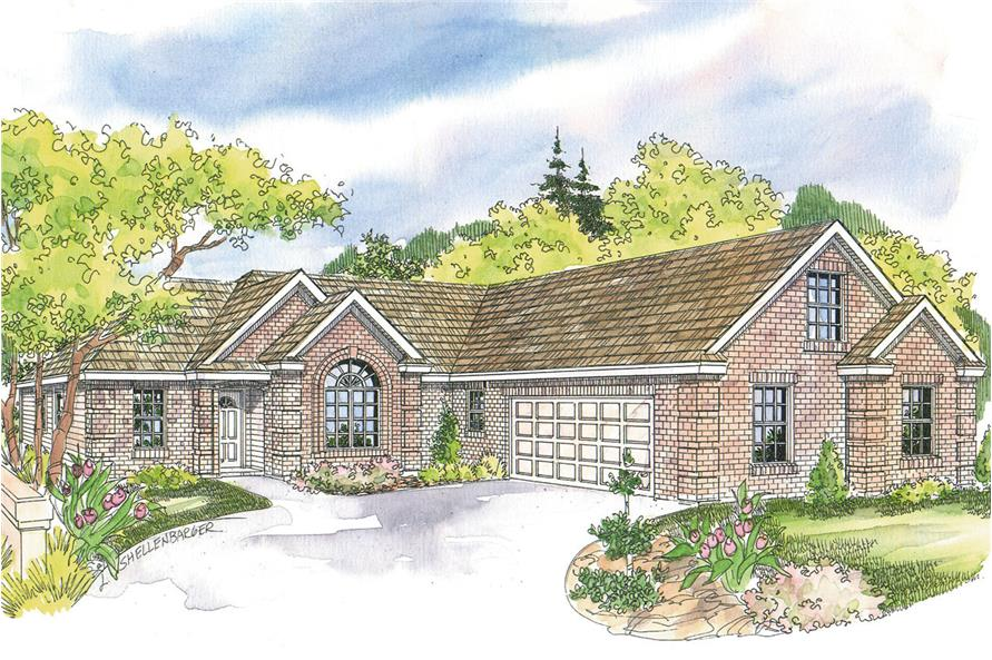 3-Bedroom, 2175 Sq Ft Traditional Home - Plan #108-1627 - Main Exterior