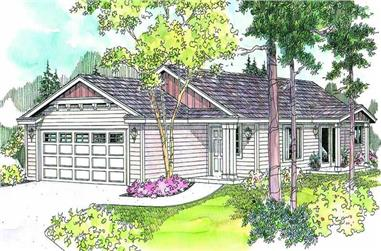 3-Bedroom, 1317 Sq Ft Craftsman House Plan - 108-1628 - Front Exterior