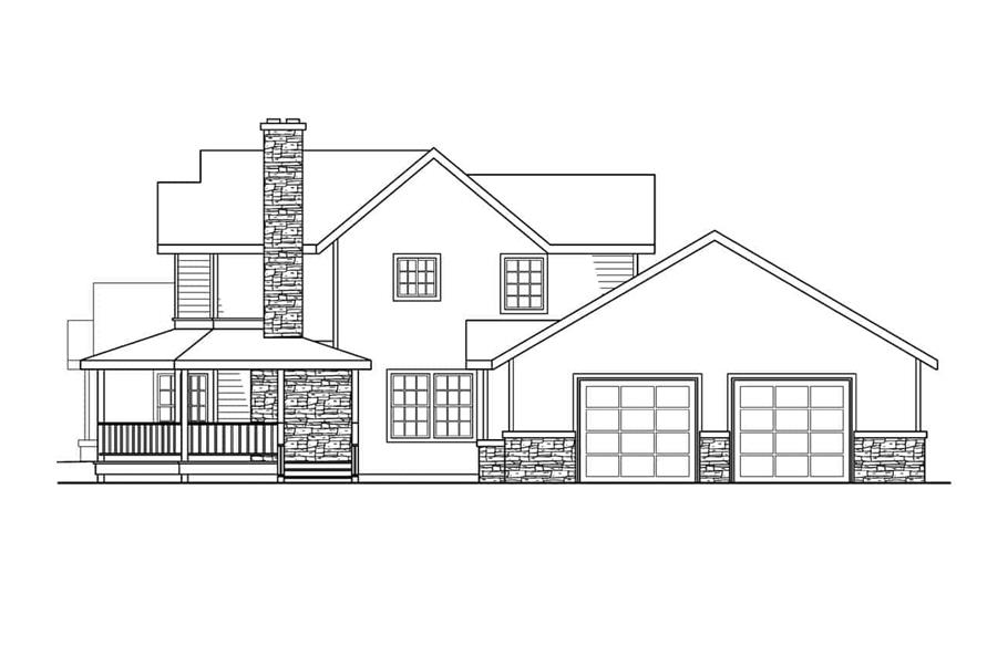 Home Plan Right Elevation of this 4-Bedroom,3291 Sq Ft Plan -108-1633
