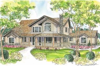 4-Bedroom, 3291 Sq Ft Country House - Plan #108-1633 - Front Exterior