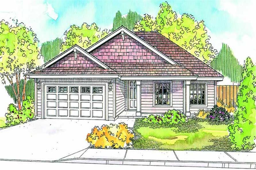 Front elevation of Country home (ThePlanCollection: House Plan #108-1636)