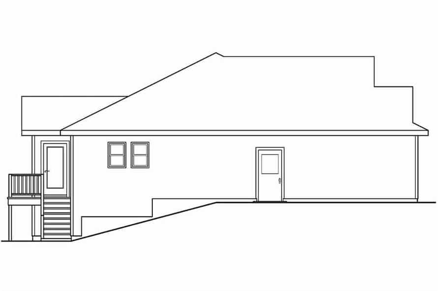 Home Plan Left Elevation of this 3-Bedroom,1467 Sq Ft Plan -108-1636