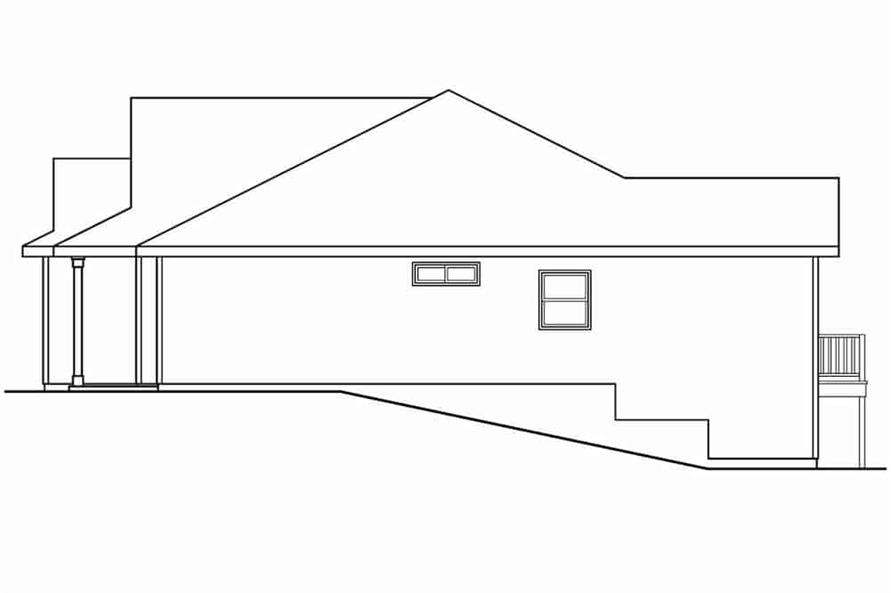 Home Plan Right Elevation of this 3-Bedroom,1467 Sq Ft Plan -108-1636