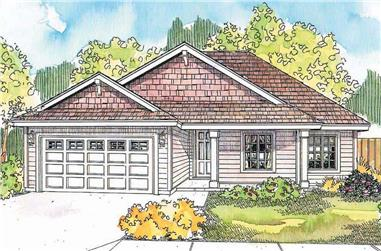 3-Bedroom, 1467 Sq Ft Country House - Plan #108-1636 - Front Exterior