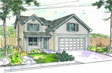 4-Bedroom, 2331 Sq Ft Country Home Plan - 108-1638 - Main Exterior
