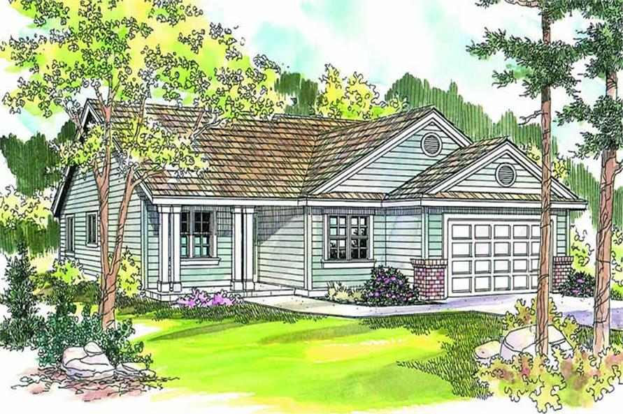 3-Bedroom, 1767 Sq Ft Ranch Home Plan - 108-1639 - Main Exterior
