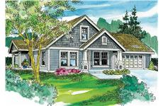 This is an artists rendering of these Craftsman Home Plans.
