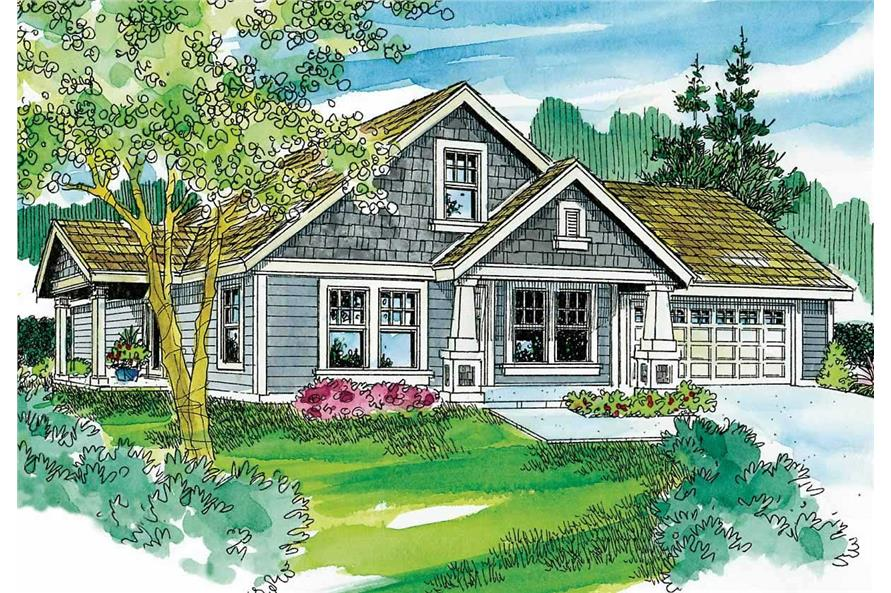3-Bedroom, 1436 Sq Ft Cape Cod House Plan - 108-1642 - Front Exterior