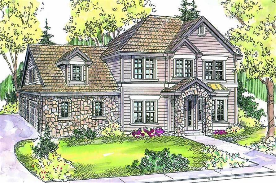 4-Bedroom, 2887 Sq Ft Contemporary Home Plan - 108-1644 - Main Exterior
