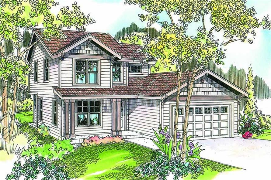 4-Bedroom, 1672 Sq Ft Country Home Plan - 108-1645 - Main Exterior