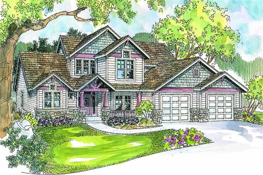 4-Bedroom, 2887 Sq Ft Country House Plan - 108-1649 - Front Exterior