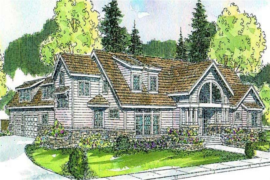 3-Bedroom, 3337 Sq Ft Contemporary House Plan - 108-1650 - Front Exterior