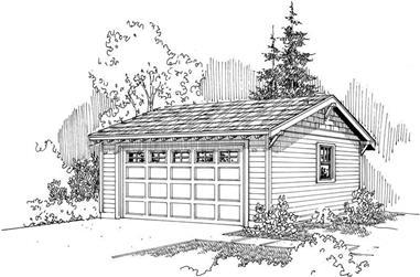 0-Bedroom, 50 Sq Ft Garage Home Plan - 108-1652 - Main Exterior