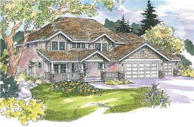 4-Bedroom, 3613 Sq Ft Ranch House Plan - 108-1655 - Front Exterior