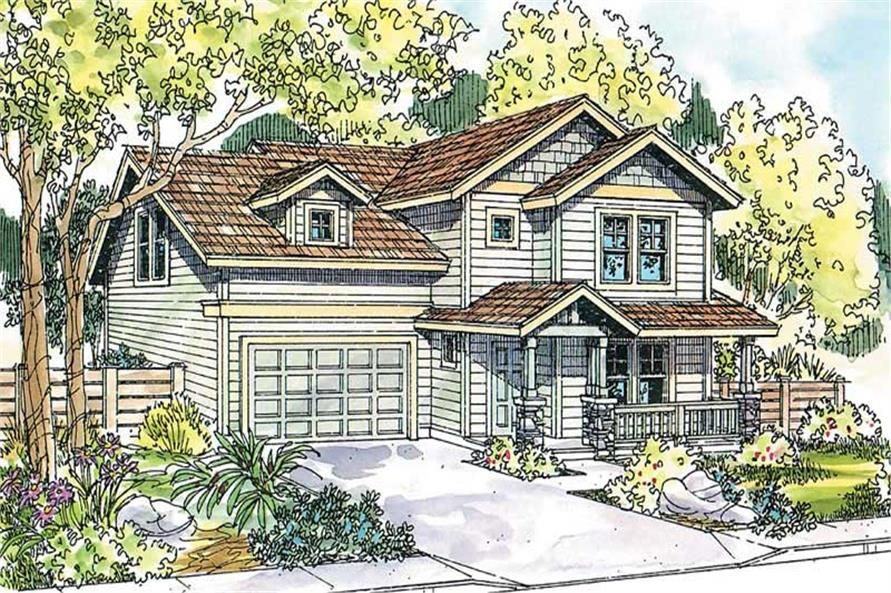 3-Bedroom, 2212 Sq Ft Country Home Plan - 108-1656 - Main Exterior