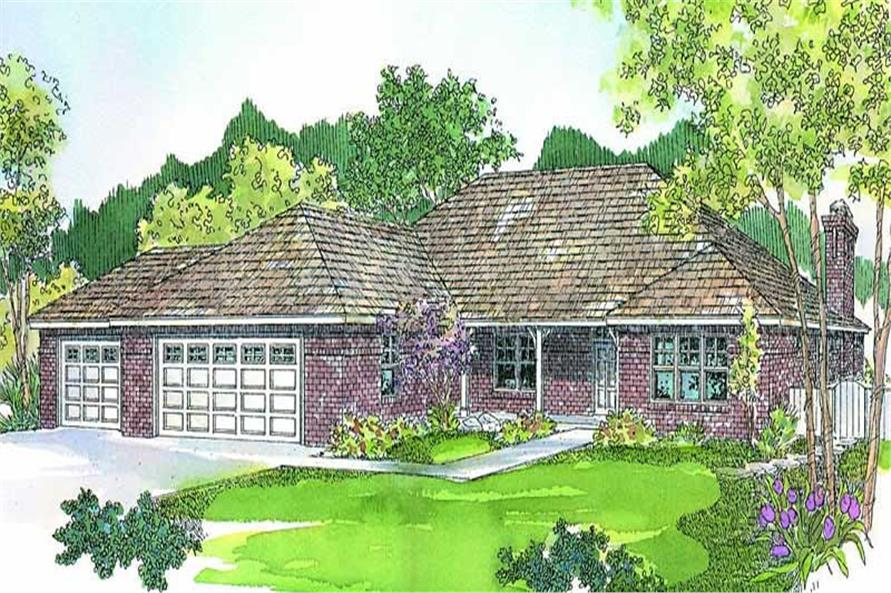 3-Bedroom, 2130 Sq Ft Ranch Home Plan - 108-1658 - Main Exterior