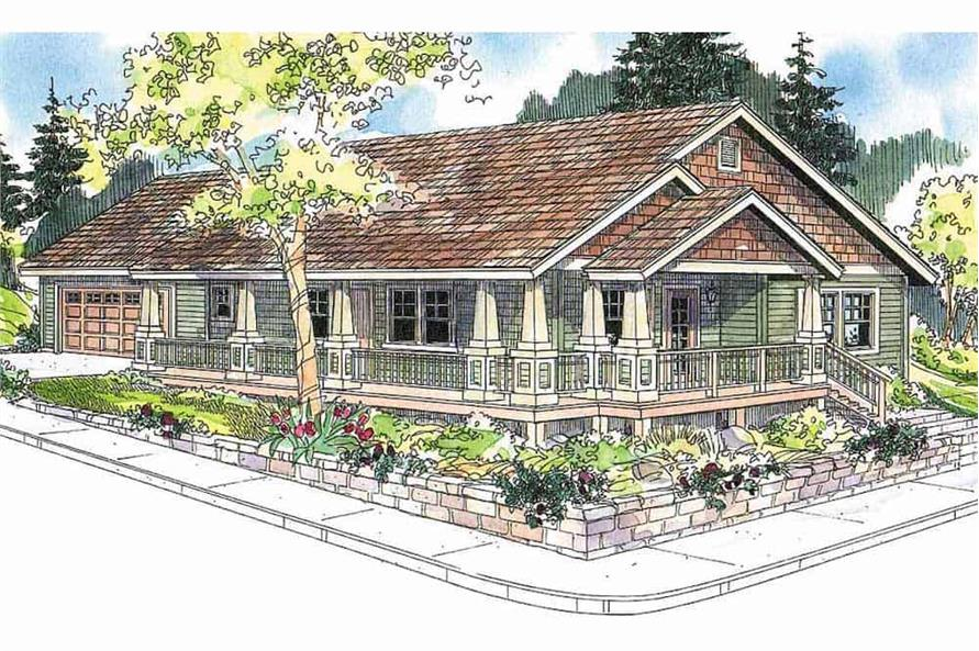 3-Bedroom, 1265 Sq Ft Country Home - Plan #108-1660 - Main Exterior