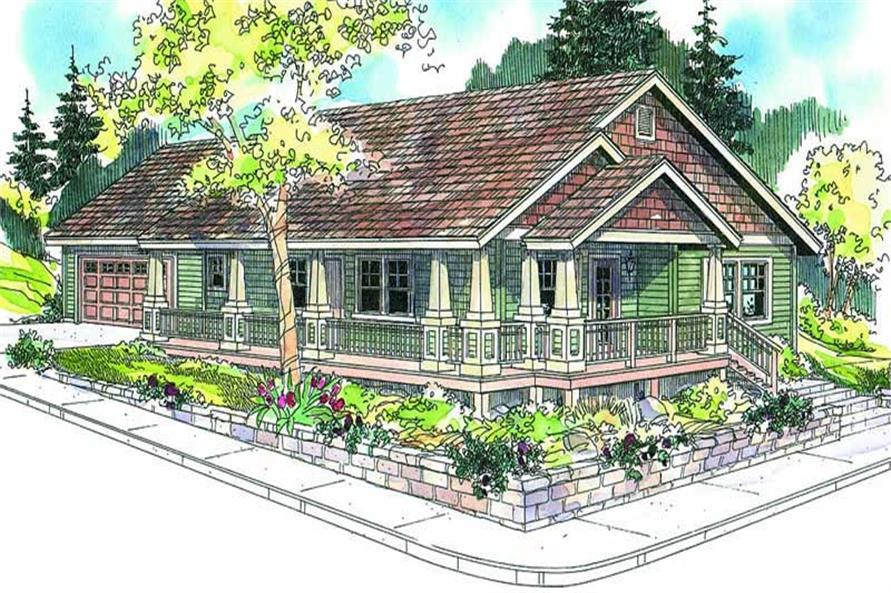 Front elevation of Country home (ThePlanCollection: House Plan #108-1660)