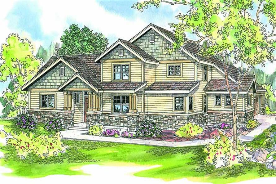 3-Bedroom, 2262 Sq Ft Contemporary Home Plan - 108-1667 - Main Exterior