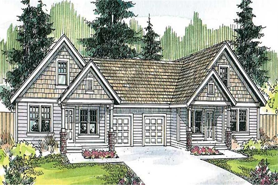 3-Bedroom, 1426 Sq Ft Country Home Plan - 108-1669 - Main Exterior