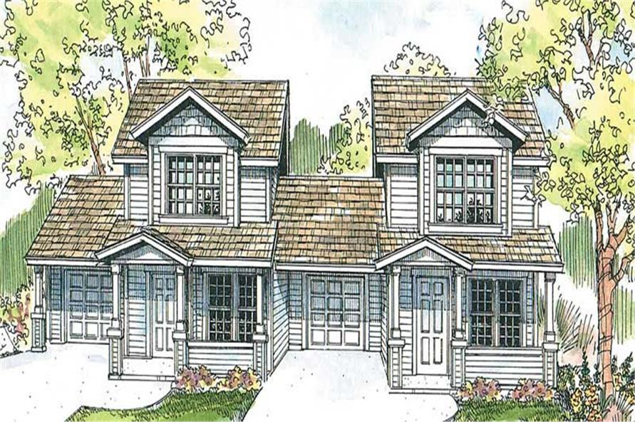 1-Bedroom, 926 Sq Ft Country Home Plan - 108-1670 - Main Exterior
