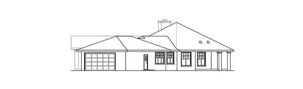 108-1672: Home Plan Right Elevation