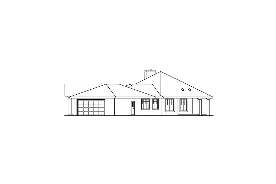 Home Plan Right Elevation of this 3-Bedroom,2711 Sq Ft Plan -108-1672