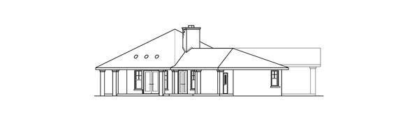 108-1672: Home Plan Left Elevation