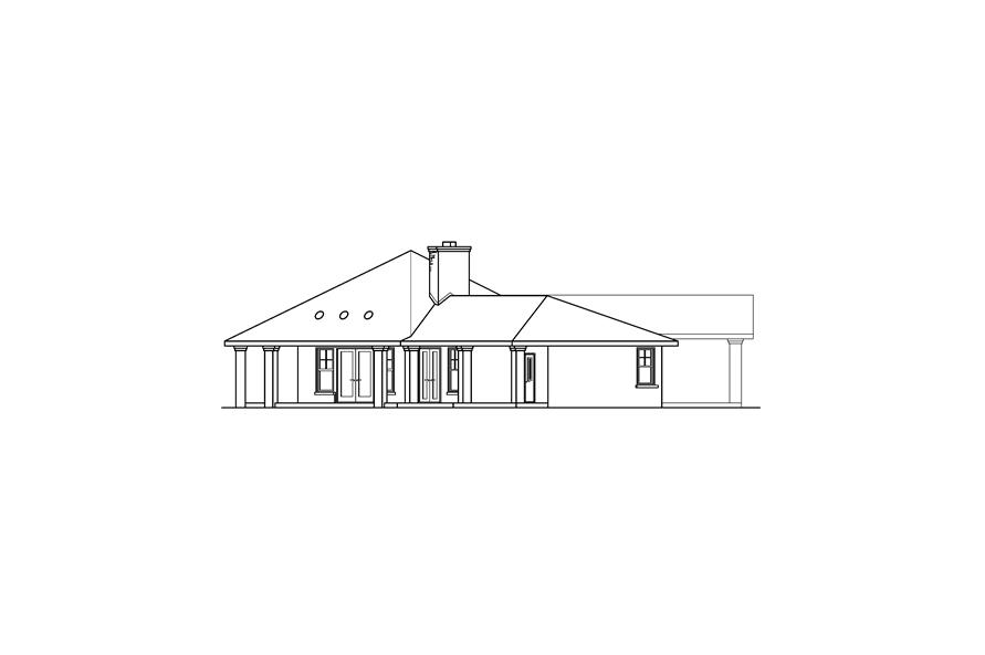 Home Plan Left Elevation of this 3-Bedroom,2711 Sq Ft Plan -108-1672